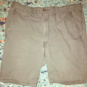 Levi's gray cotton blend shorts 38W. Worn <5 times